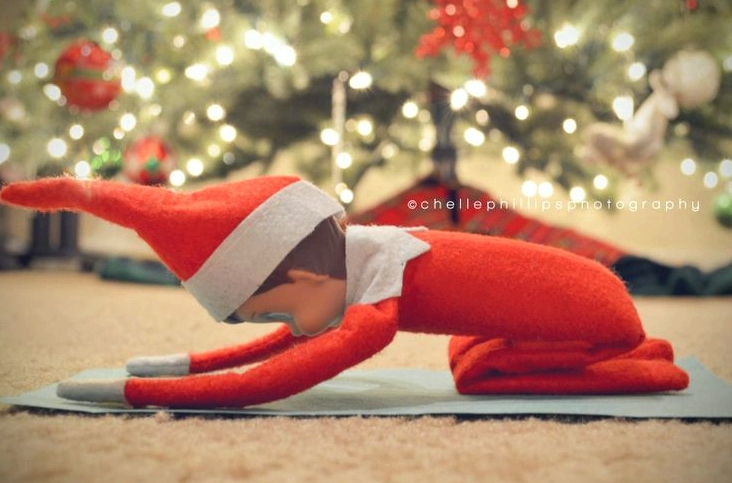 elf-shelf-yoga-childs-pose