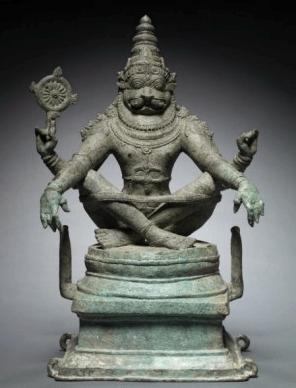 Yoga Narashimha, Vishnu in his Man-Lion Avatar, c. 1250 | Cleveland Museum of Art