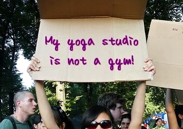 Yogis Fight Sales Tax