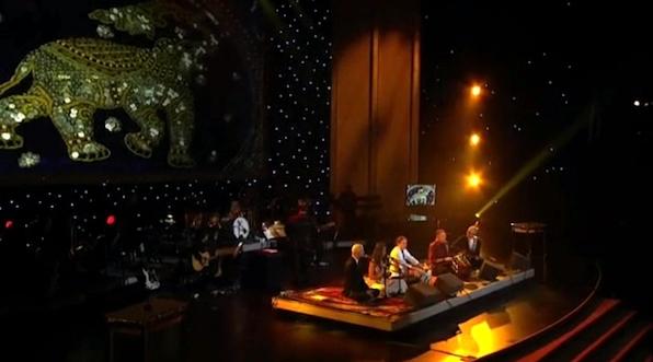 Krishna Das performs at the 2013 Grammys