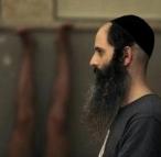 Yoga instructor Avraham Kolberg leads a class in Ramat Beit Shemesh