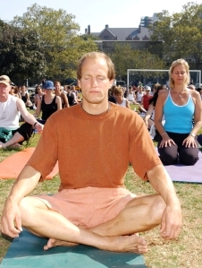 woody harrelson does yoga